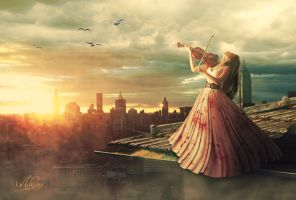 Symphony in the sunset by Adriana-Madrid