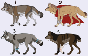 Wolf Point Adoptables -CLOSED- by PoodleFradoodle