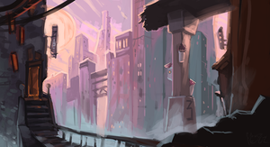 City's Canyons by the-fogz