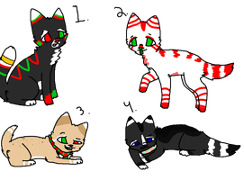 Christmas adopts by NeonOwlz