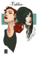 fables - snow white rose red by missveryvery