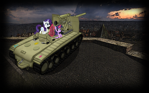 wallpaper: WOT/MLP crossover (screen 5) by crasydwarf
