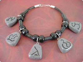 Rune Stone Bracelet by monsterkookies