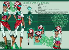 Janelle Delahaye Charater Ref by IcysisDee