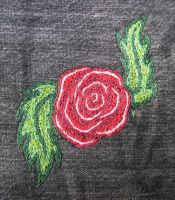 Embroidered Rose by oceanstarr