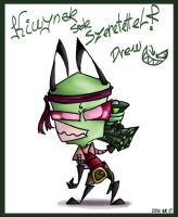 Kiwy's Smexy Zim XD by DrewBlueberry