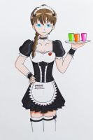 Anna the Cafe Waitress by Anths95