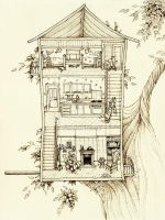 Birdhouse - Nell80 by childrensillustrator