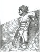 Eren in Titan Form by reila07