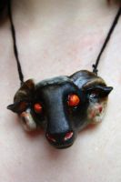 Black Sheep Pendant by PoisonJARCreations