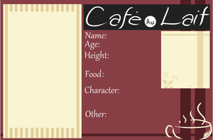 cafe character template by remon-sama
