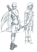 Artemis and Miss Martian 2013a by BrianTyson