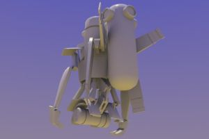 GoinRobo WIP 2 by InvertedVantage