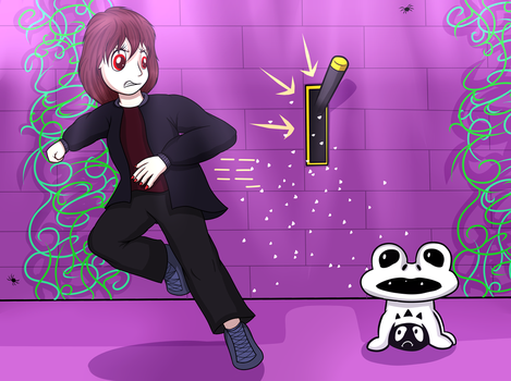 Chara in the Ruins [StrangeTale Universe] by AquasElemental