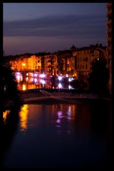 Castres by night by Gruntter