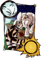 Sun And Moon by Owl-Flight