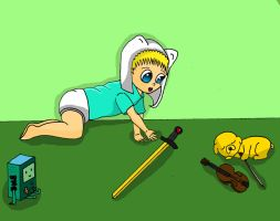 Baby Finn and Baby Jake by MarcelineSexyVampire