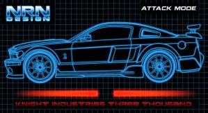Knight 3000 - Attack KITT Art by valaryc