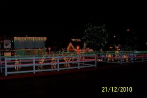 Christmas lights at the Grand Canyon Railway H by jfahrlender