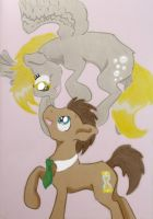 Derpy and Dr. Whooves by Thorinstrawberry