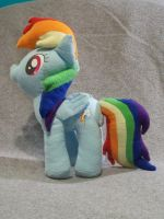 Rainbow Dash plush by The-Chaos-Controller