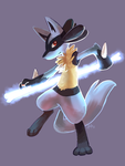 Lucario used Bone Rush by yassui