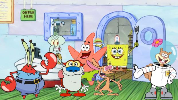 Special Guests At The Krusty Krab by StarWars888