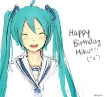 Happy Birthday Miku! by xPsyren