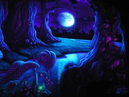 UV enchanted forest by TomLenz