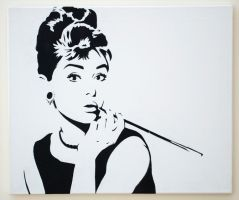 Audrey Hepburn by tobyedwards