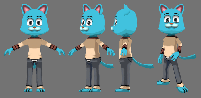 Gumball Model by FusionFallCreations