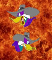 Darkwing Duck with background by DarkwingDrake