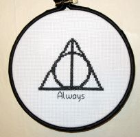 Deathly Hallows Hoop by VickitoriaEmbroidery
