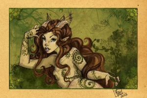 Satyr Reclining by harusame