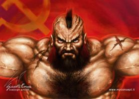 Zangief Street Fighter Fan art by giaci78