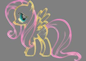 Sketched Fluttershy by PonySpectrum