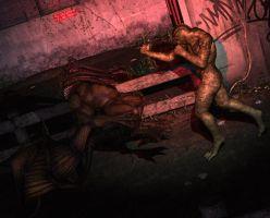Back street brawl by silverexpress