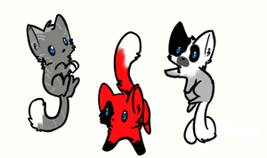 Adoptables Kittens by Fangwolfpack