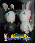 Splinter Cell and Christmas Rabbid Papercraft by Sabi996