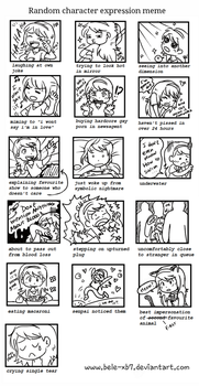 random character expression meme by Bele-xb7