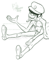 Sketchy Murdoc thingy by faster-by-choice