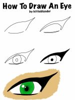 How to draw an eye by kittieblunder