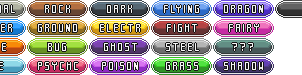 Pokemon Types - Icons by goncas23