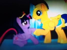 Twilight and Flash Sentry by Sonica96