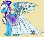 Princess Flurriana the Snow Angel Dragoness by rosefang16