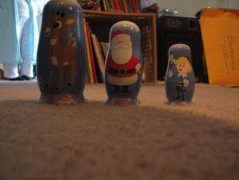 Rudolph The Red-Nosed BABOOSHKAH Nesting Doll Set by TaionaFan369