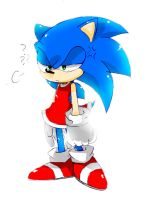 Sonic is wearing Amy's dress by 415sonic