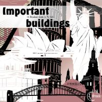 Important Buildings Brushes by Coby17