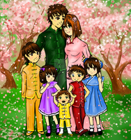 Li Family Portrait, by Delight046 by Wolf-Blossom