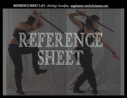 REFERENCE SHEET 5 of 5: Harbinger Swordplay by AngelaSasser-stock